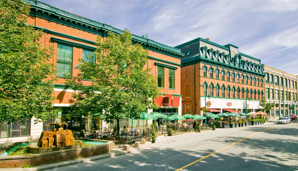 Wellington street, downtown Sherbrooke